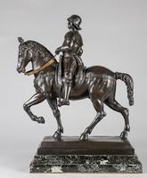 Very Large Stunning 19th Century Equestrian Bronze Sculpture of Bartolomeo Colleoni