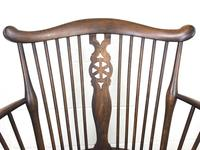 Edwardian Windsor Stick Back Armchair with Cane Seat (9 of 14)