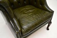 Antique Georgian Style Leather Armchair (5 of 10)