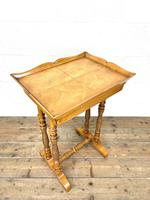 Antique Satin Birch Tray Top Side Table (3 of 10)