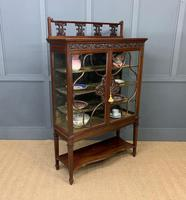 Carved Mahogany Display Cabinet (7 of 14)