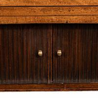 George III breakfront yew-wood inlaid mahogany sideboard (6 of 10)