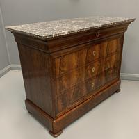Louis Philippe Marble Top Commode (2 of 6)