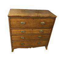 Georgian Oak Secretaire chest of drawers