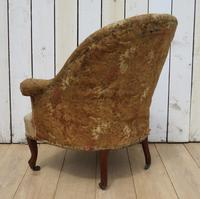 Antique French Tub Chair For Re-upholstery (3 of 8)