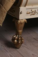 Very Rare Renaissance Style Sleigh Bed with Parcel Gilt (3 of 15)