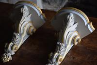 Late 19th Century Gilt and White Painted Corner Wall Brackets (3 of 10)