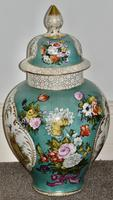 Stunning Very Large Late 19th Century Helena Wolfsohn Dresden Vase + Cover (3 of 11)