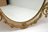 Pair of Antique French Style Brass Mirrors (9 of 12)