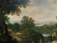 Exceptional Large 1700s Old Master Giltwood Landscape Oil on Canvas Painting (5 of 17)