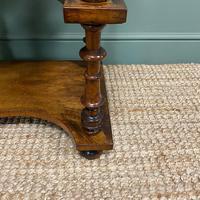 Stunning Victorian Walnut Antique Davenport Whatnot (10 of 10)