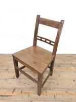 Harlequin Set of 19th Century Welsh Oak Ball & Rail Back Chairs (5 of 11)