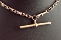 Antique 9ct Gold Watch Chain, Fancy Link, Albert Chain (2 of 9)