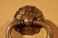 Very Decorative Original Bronze 18th Century Complete Continental Door Knocker (2 of 7)