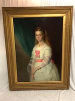 Huge 19th Century Young Fine Scottish Girl Portrait Matthias Robinson 1856-1895 (8 of 37)