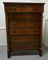 19th Century Tall 6 Drawer Oak Chest of Drawers