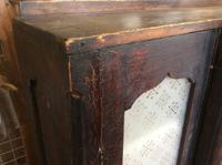 Antique Stained Pine Cupboard with Etched Glass Door Panels (3 of 8)