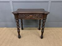 Good 19th Century Carved Oak Table (2 of 15)