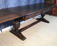 Large Oak Extending Dining Table (11 of 18)