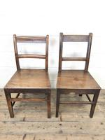 Four 19th Century Oak Back Bar Chairs (8 of 10)