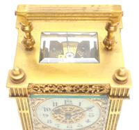 Fantastic French 8-day Fleur De Lis Decorated Panel 8-day Carriage Clock Timepiece c1890 (6 of 10)