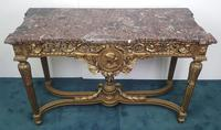 19th Century Marble Topped Gilt Console Table