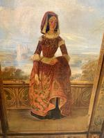 Huge 19th Century French Oil on Canvas Portrait (3 of 10)