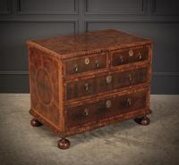 Rare Laburnum Oyster Veneer Chest of Drawers (2 of 4)