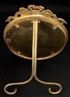 Victorian Gilt Brass  Circular Easel Photo Frame. (3 of 4)