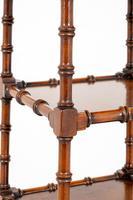 Unusual Walnut Regency Style Whatnot (3 of 9)