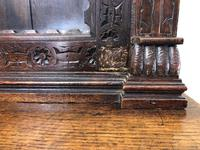 Victorian Carved Oak Cabinet with Glazed Top (9 of 11)