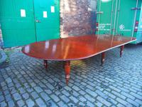 Large George IV Mahogany Dining Table by M. Willson, London (3 of 20)