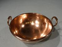 Fine Quality Early 19th Century, Very Heavy, Copper Cream Bowl (3 of 6)
