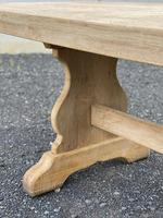 Bleached Oak Trestle End French Farmhouse Dining Table (10 of 22)