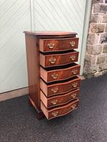 Serpentine Mahogany Slim Chest Drawers (2 of 8)