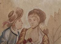 Antique French Tapestry Classical Courtly Love Romance c.1860 (13 of 17)