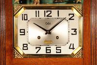 Italian Interest Automaton Large Oak Signed Odo Striking Wall Clock (3 of 11)