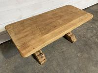 French Farmhouse Bleached Oak Coffee Table (3 of 9)