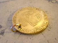 Antique Pocket Watch Chain Fob 1890 Victorian Faux Guinea Gambling Coin Fob (4 of 6)