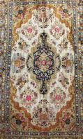 Antique Kashmir Silk Carpet (2 of 8)