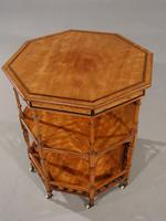 Exceptional Late 19th Century Octagonal Satinwood Table (4 of 7)