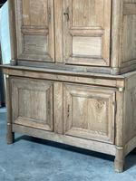 Wonderful French Empire Period Bleached Oak Linen Press (4 of 32)