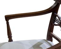 A Pair of Geo III Mahogany Elbow Chairs (2 of 8)