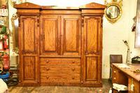 Antique William IV Mahogany 4 Door Wardrobe (5 of 5)