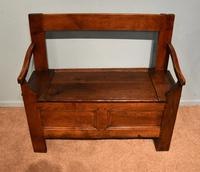 Early Nineteenth Century French Cherry Wood Bench (4 of 7)