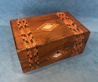 Victorian Walnut & Tunbridge Ware Jewellery Box (9 of 11)