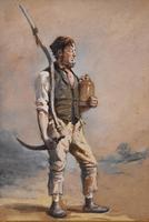 """Oil Painting Pair by H.T Dennis """"Somerset Labourers"""" (7 of 8)"""