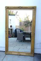 Large Victorian Giltwood & Gesso Overmantle Mirror (2 of 16)