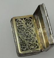 Nathaniel Mills Georgian Silver Vinaigrette 1828 (2 of 7)