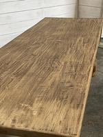 Nice Large Bleached Oak Farmhouse Dining Table With Extensions (12 of 35)